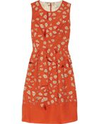 Lela Rose Beaded Silk Cutout Dress - Lyst