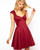ASOS Collection Asos Skater Dress with Bow Sides - Lyst