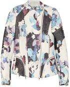 3.1 Phillip Lim Floral Print Corded Silk Biker Jacket - Lyst