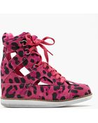 Nasty Gal Padua Wedge Sneaker Pink Leopard - Lyst