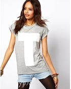 ASOS Collection T-shirt with Plastisol Letter Print - Lyst