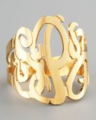 Jennifer Zeuner Three Initial Monogram Ring - Lyst
