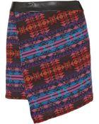 Topshop Moroccan Wrap Pelmet Skirt - Lyst