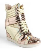 Boutique 9 Nevan Metallic Leather Wedge Sneakers - Lyst