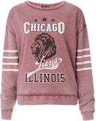 Topshop College Sweatshirt - Lyst