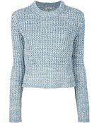 Acne Studios Lia Twist Sweater - Lyst