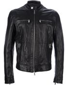 DSquared2 Classic Leather Jacket - Lyst