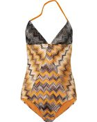 Missoni Zigzag Crochetknit Backless Swimsuit - Lyst