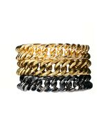 Asos Pack Of Three Chunky Chain Bracelets - Lyst