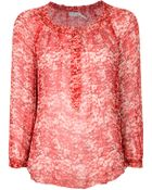 Etoile Isabel Marant Blotchy Print Chiffon Blouse - Lyst