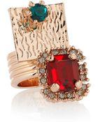 Mawi Swarovski Crystal Ring - Lyst