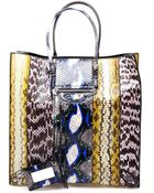 Balenciaga Papier Python Printed Leather Tote Bag - Lyst