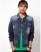 Diesel Denim Jacket Elshar Vintage Wash - Lyst