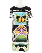 Mary Katrantzou Silk Dress with A Stamp and Banknotes Kaleidoscopic Print - Lyst
