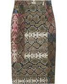 Preen By Thornton Bregazzi Sahara Pythonprint Pencil Skirt - Lyst
