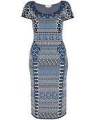 Temperley London Mimi Jacquard Sleeveless Dress - Lyst