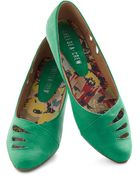 ModCloth Raindrop Everything Flat in Emerald - Lyst
