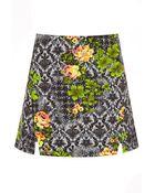 Topshop Acid Floral Aline Skirt - Lyst