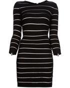Balmain Sheer Stripe Dress - Lyst