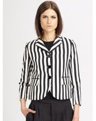 Marc Jacobs Striped Three Button Jacket - Lyst