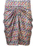 Saloni Twist Skirt - Lyst