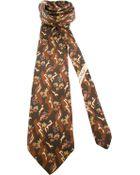 Ferragamo Print Tie - Lyst