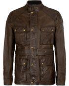 Belstaff Richmond Leather Field Jacket - Lyst