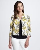 Tory Burch Rimon Printed Silk Jacket - Lyst