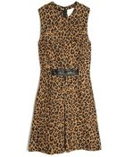 3.1 Phillip Lim Sleeveless Leopard Print Dress - Lyst
