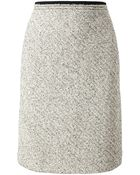Carven Virgin Wool Tweed Miniskirt - Lyst
