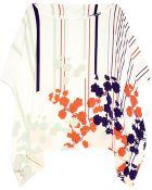Diane von Furstenberg New Hanky Asymmetric Printed Silk Top - Lyst