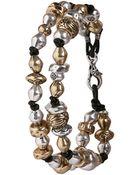 Lucky Brand Double Strand Beaded Bracelet - Lyst