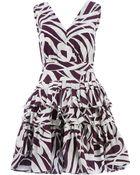 Marni Printed Layered Pleat Dress - Lyst