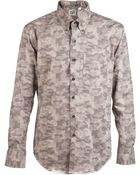 Naked & Famous Camo Slim Shirt - Lyst