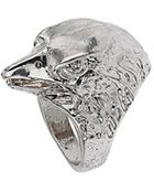 Topshop Engraved Eagle Ring - Lyst