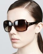 Gucci Rounded-Square Sunglasses - Lyst