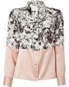 Paul Smith Whitemulti Silk Print Shirt - Lyst