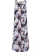 Theyskens' Theory Dlilac Printed Stretch-Silk Maxi Dress - Lyst