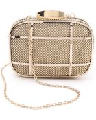 Whiting & Davis Cage Minaudiere Clutch - Gold - Lyst