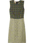 Marni Printed Crepe and Tweed Dress - Lyst