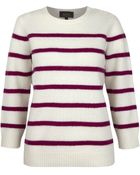 A.P.C. Cream and Burgundy Striped Knitted Jumper - Lyst