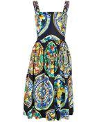Dolce & Gabbana Sleeveless Printed Dress - Lyst