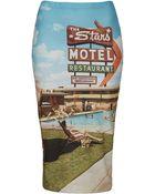Topshop Motel Printed Tube Skirt - Lyst