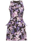 McQ by Alexander McQueen Print Dress with Peplum - Lyst