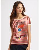 Sonia By Sonia Rykiel Striped Graphic Cherry Bomb Tshirt - Lyst
