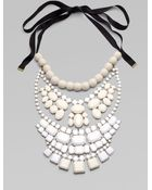 By Malene Birger Beaded Bib Necklace - Lyst