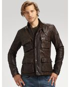 Vince Fourpocket Leather Jacket - Lyst