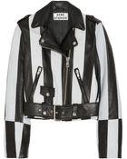 Acne Studios Mape Striped Leather Biker Jacket - Lyst