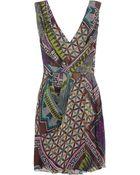 Matthew Williamson Printed Silk-Chiffon Dress - Lyst