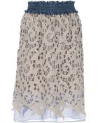 Carven Lace Pencil Skirt - Lyst